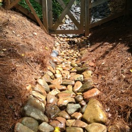 Drainage problems SOLVED! No more ugliness at this Woodstock, GA home!