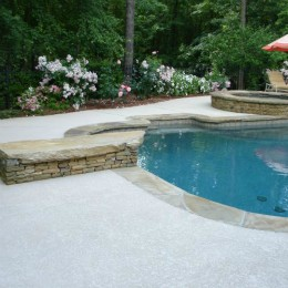 White pebble surface, and a new Deck textured surface -- Alpharetta, GA